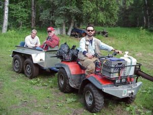 four wheeler trail ride for fish and bears